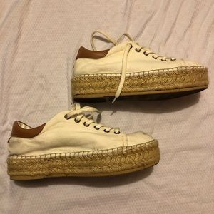 Steve Madden cream canvas espadrilles sneakers 8.5